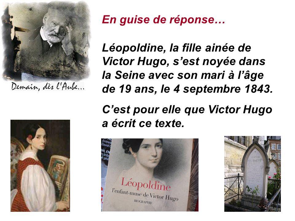 C'est pour elle que Victor Hugo a écrit ce texte.