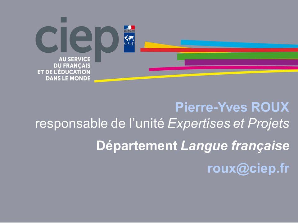 Pierre-Yves ROUX responsable de l'unité Expertises et Projets