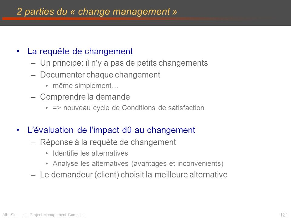 2 parties du « change management »