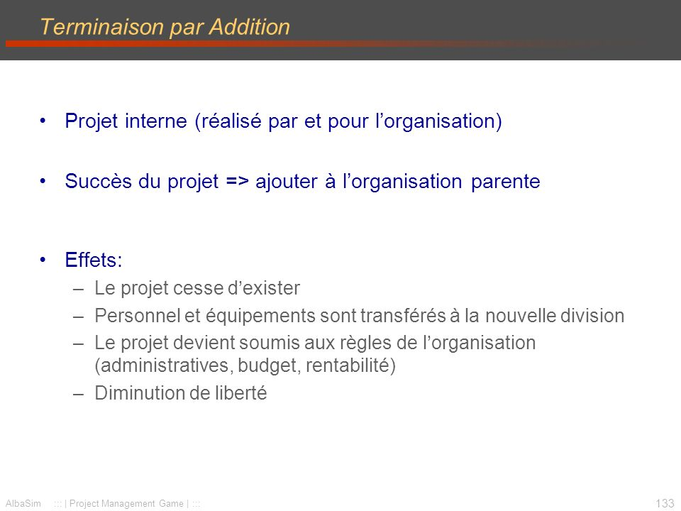 Terminaison par Addition