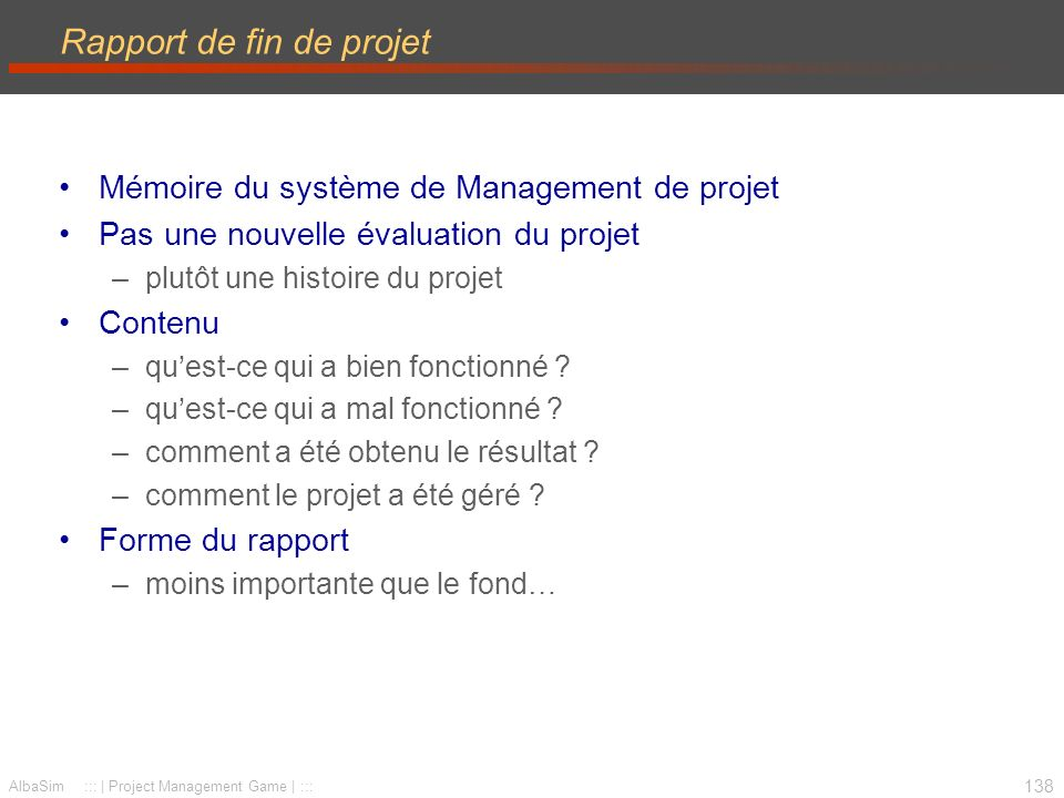Rapport de fin de projet