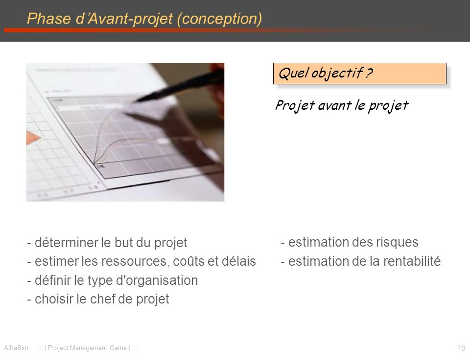 Phase d'Avant-projet (conception)