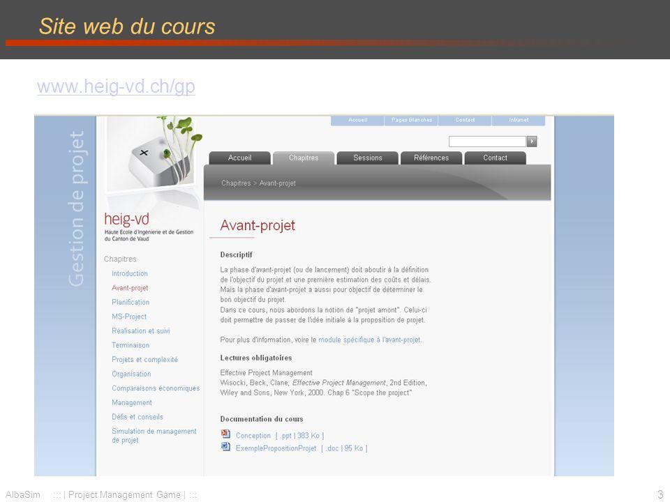 Site web du cours www.heig-vd.ch/gp