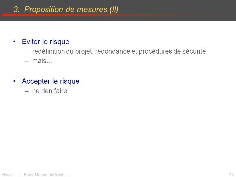 3. Proposition de mesures (II)