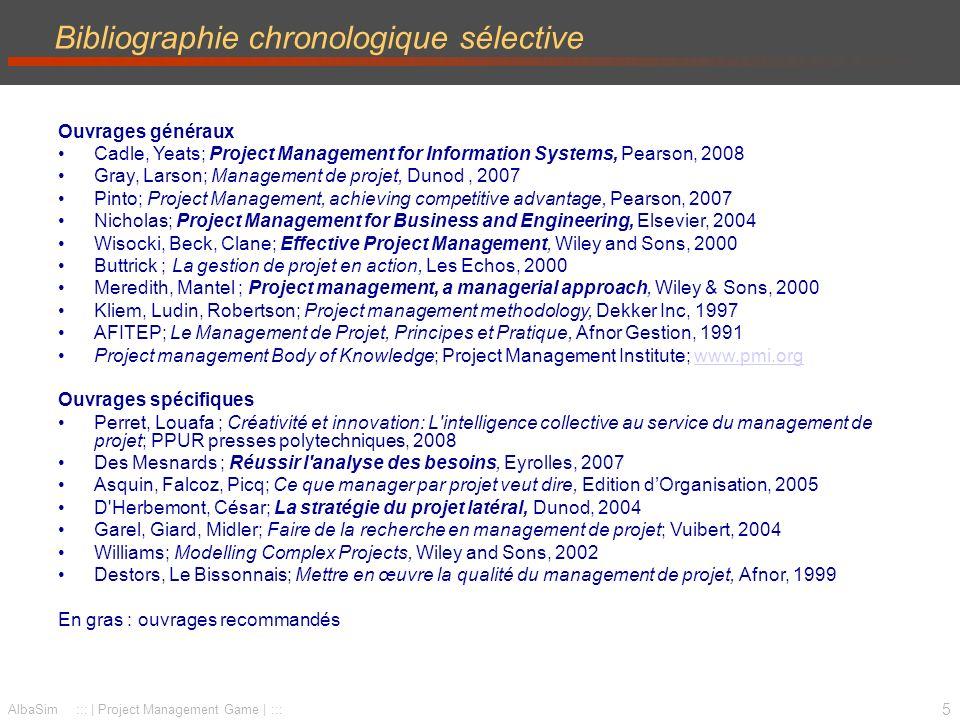 Bibliographie chronologique sélective