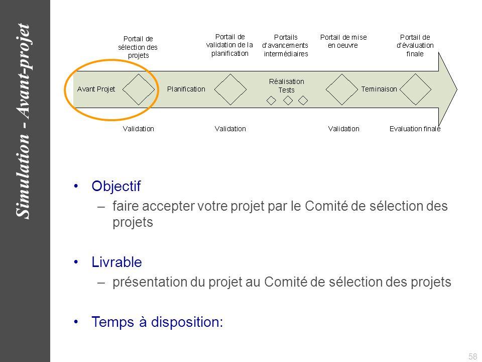Simulation - Avant-projet