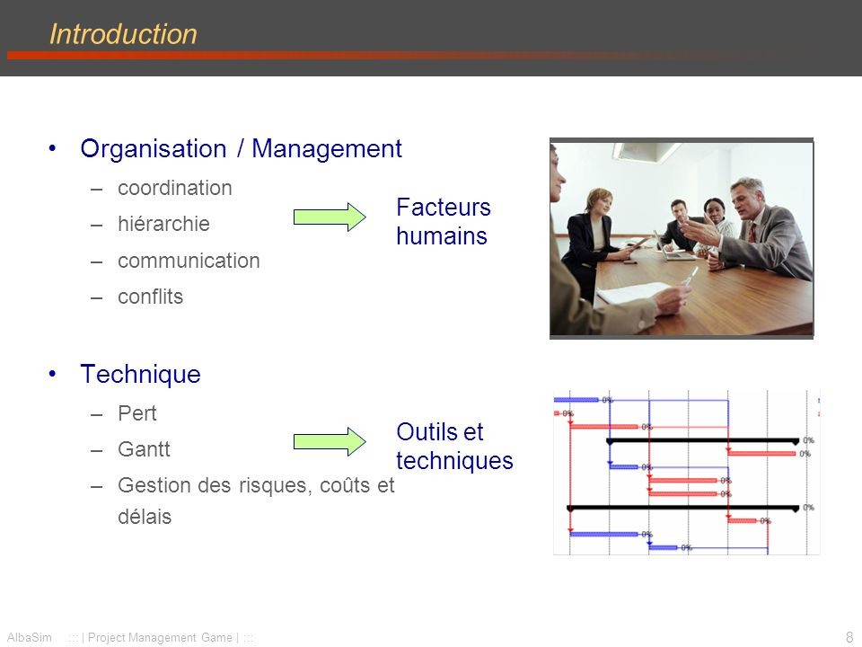 Introduction Organisation / Management Technique Facteurs humains