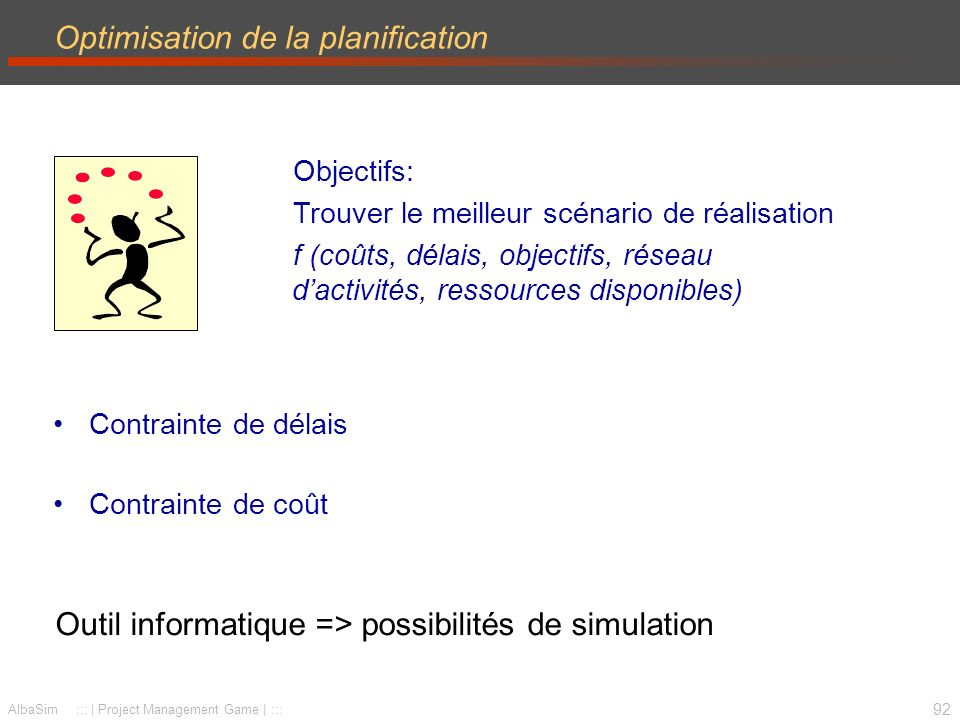 Optimisation de la planification