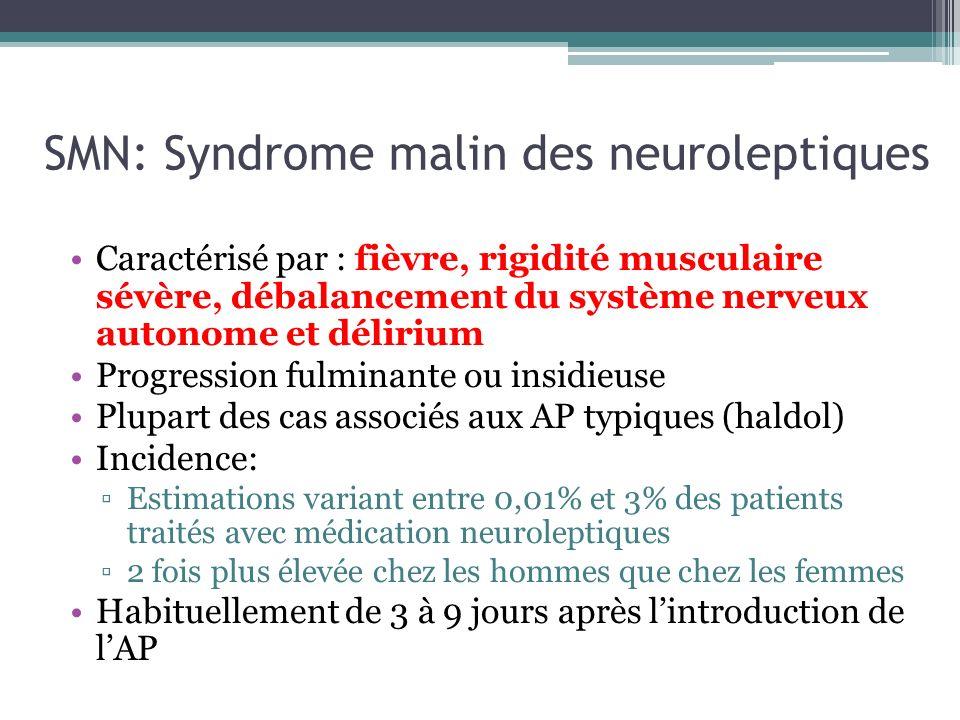 SMN: Syndrome malin des neuroleptiques