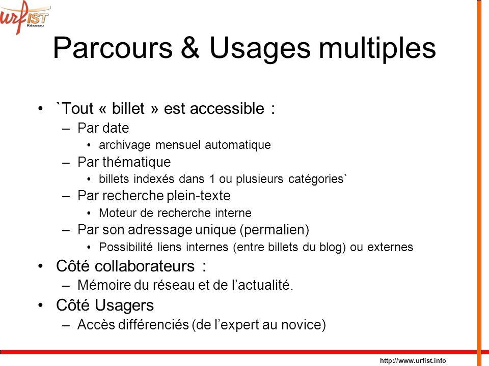 Parcours & Usages multiples