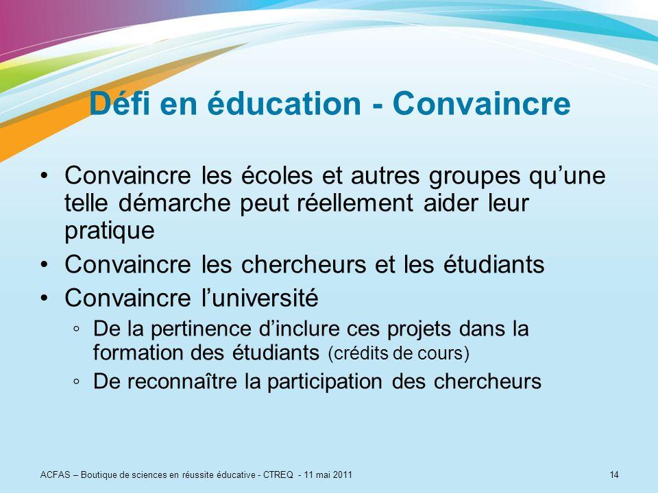 Défi en éducation - Convaincre