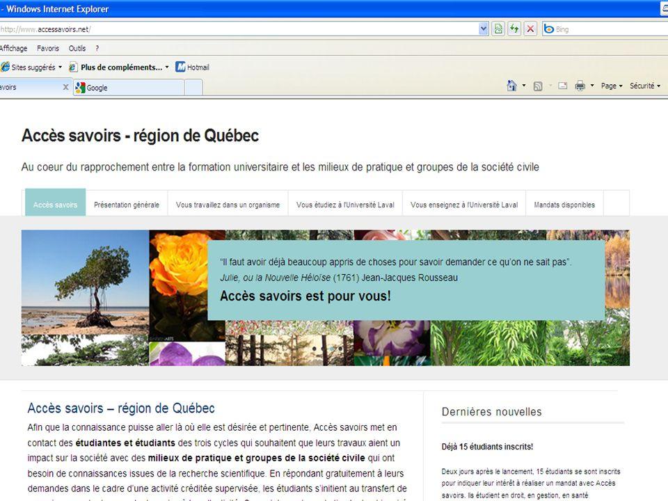 Site d'Accès savoirs ACFAS – Boutique de sciences en réussite éducative - CTREQ - 11 mai 2011 8 8