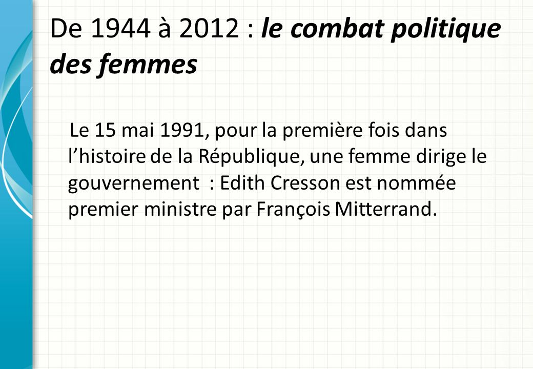 edith cresson 1er ministre