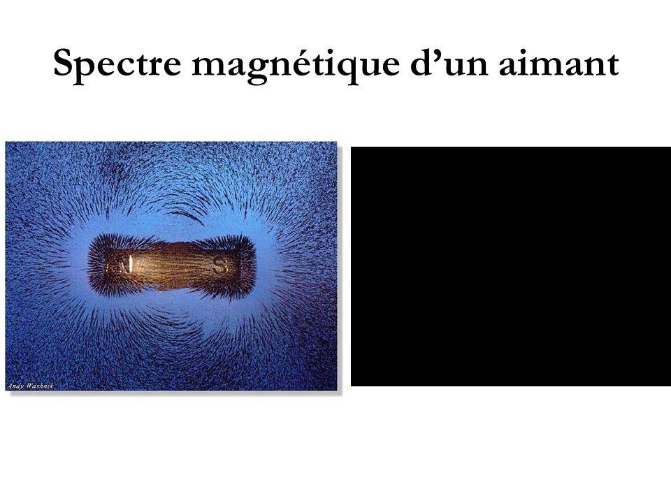 Spectre magnétique d'un aimant