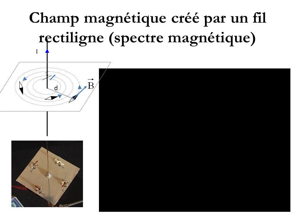 Champ magnétique créé par un fil rectiligne (spectre magnétique)