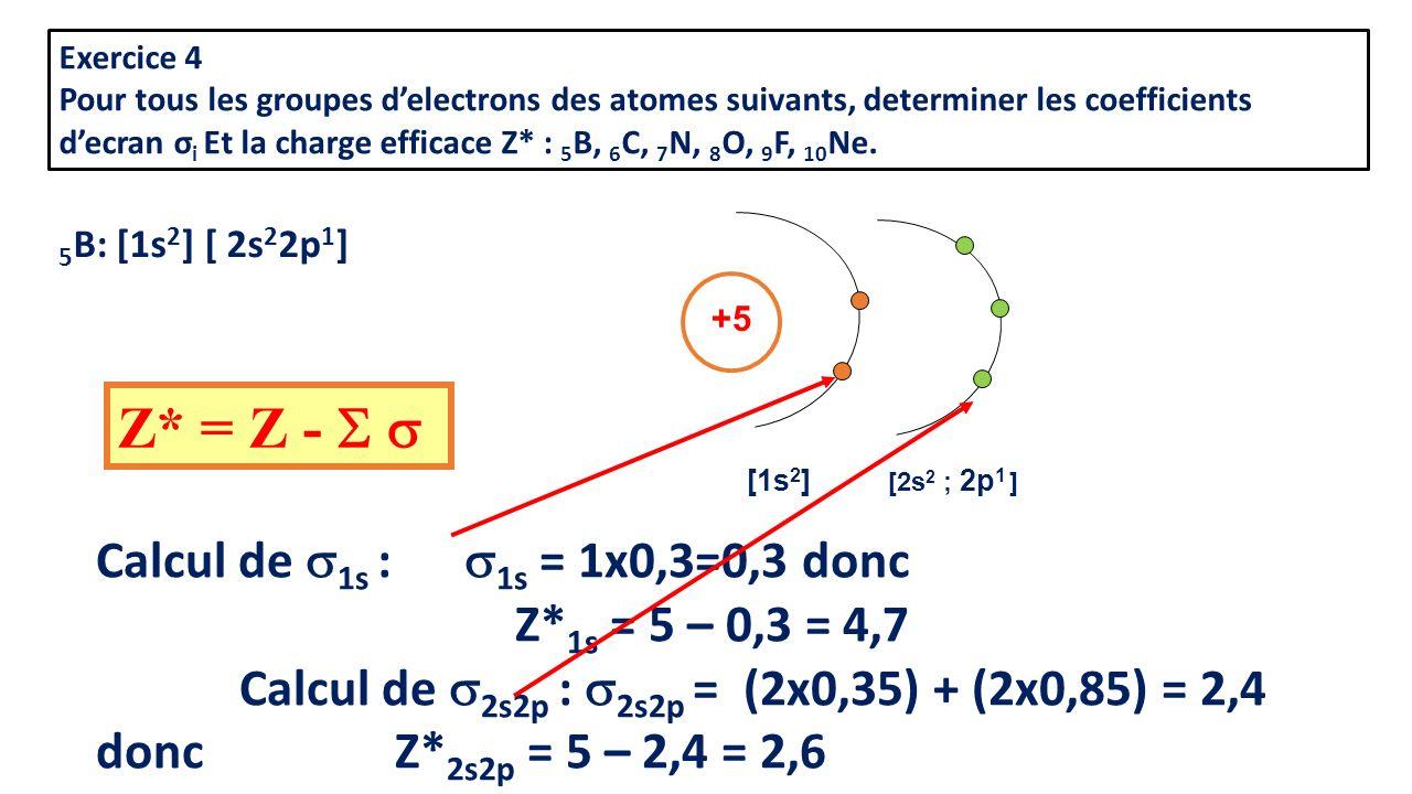 Z* = Z - S s Calcul de 1s : 1s = 1x0,3=0,3 donc Z*1s = 5 – 0,3 = 4,7