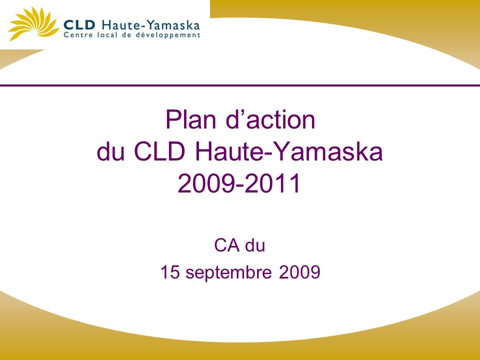 Plan d'action du CLD Haute-Yamaska 2009-2011