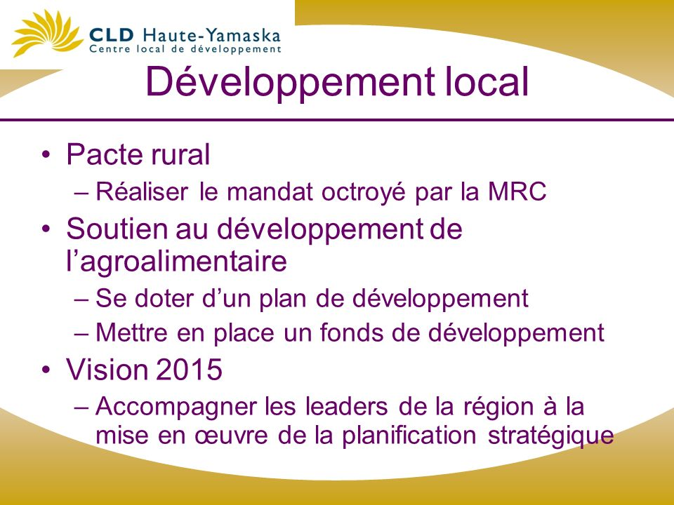 Développement local Pacte rural