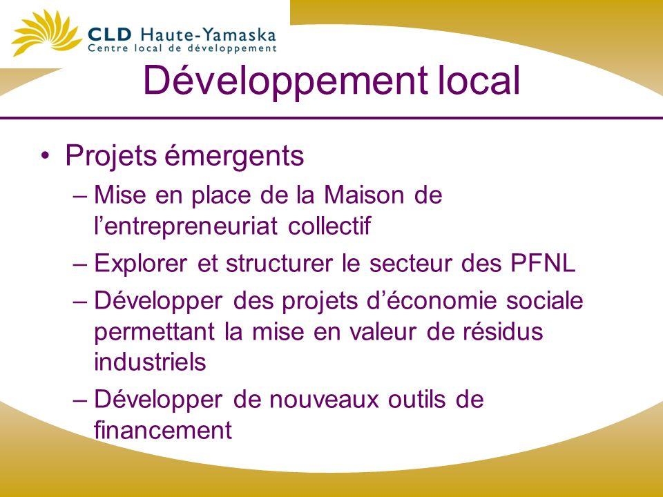 Développement local Projets émergents