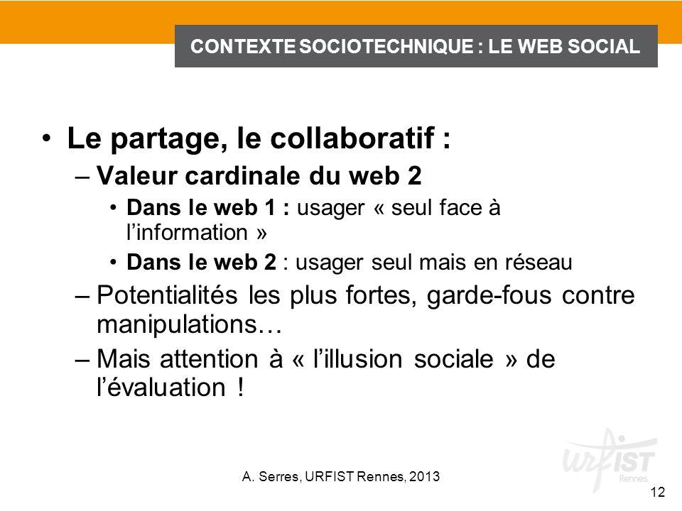 CONTEXTE SOCIOTECHNIQUE : LE WEB SOCIAL