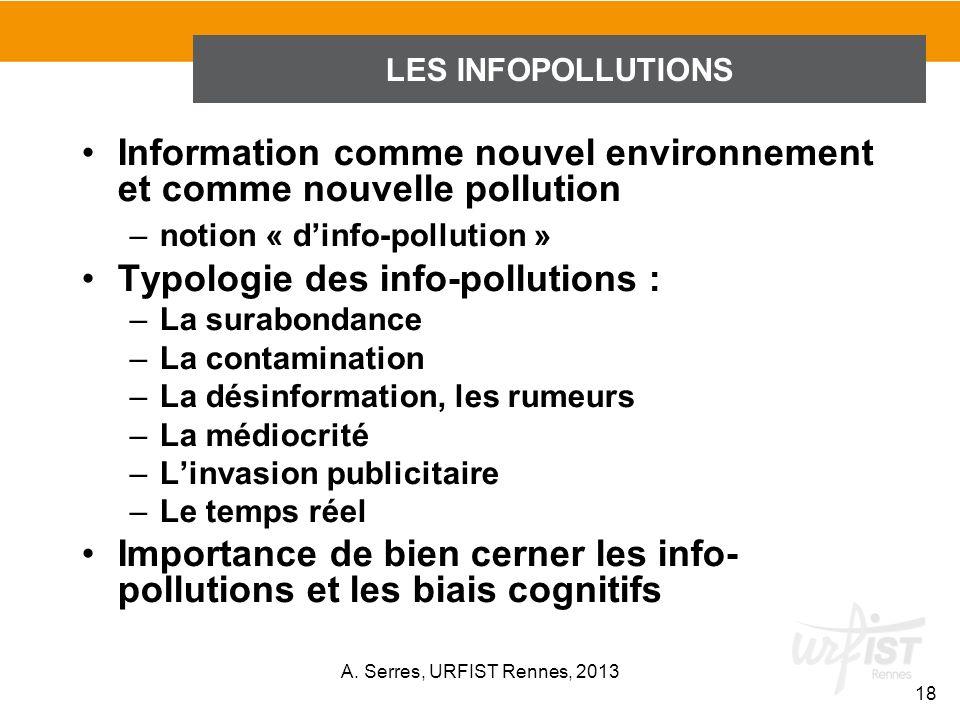 Information comme nouvel environnement et comme nouvelle pollution
