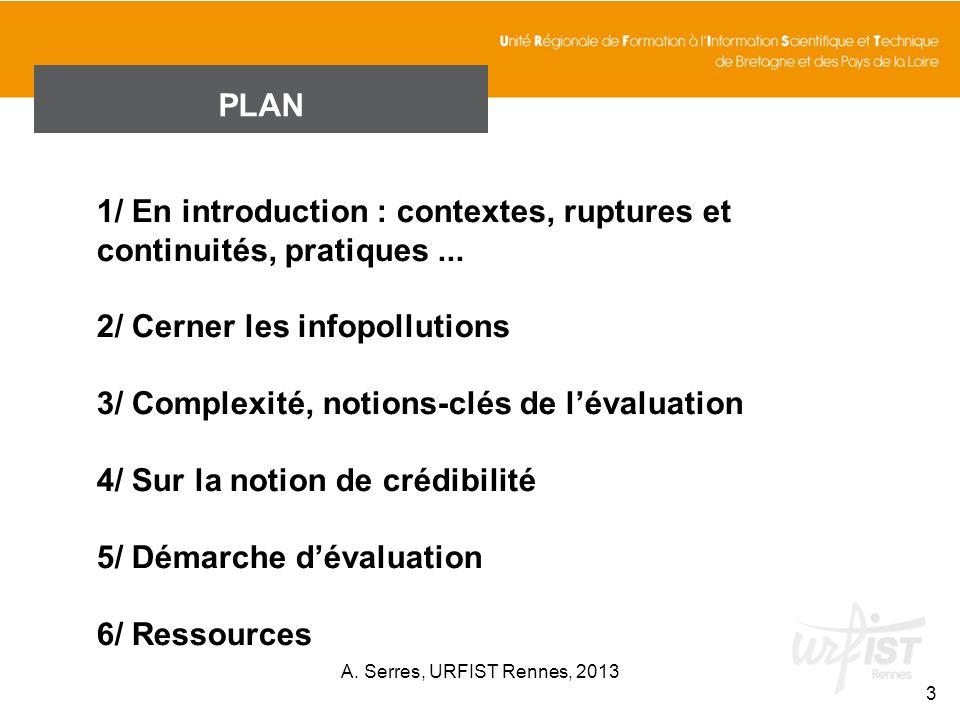1/ En introduction : contextes, ruptures et continuités, pratiques ...