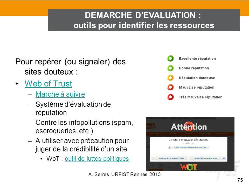 DEMARCHE D'EVALUATION : outils pour identifier les ressources