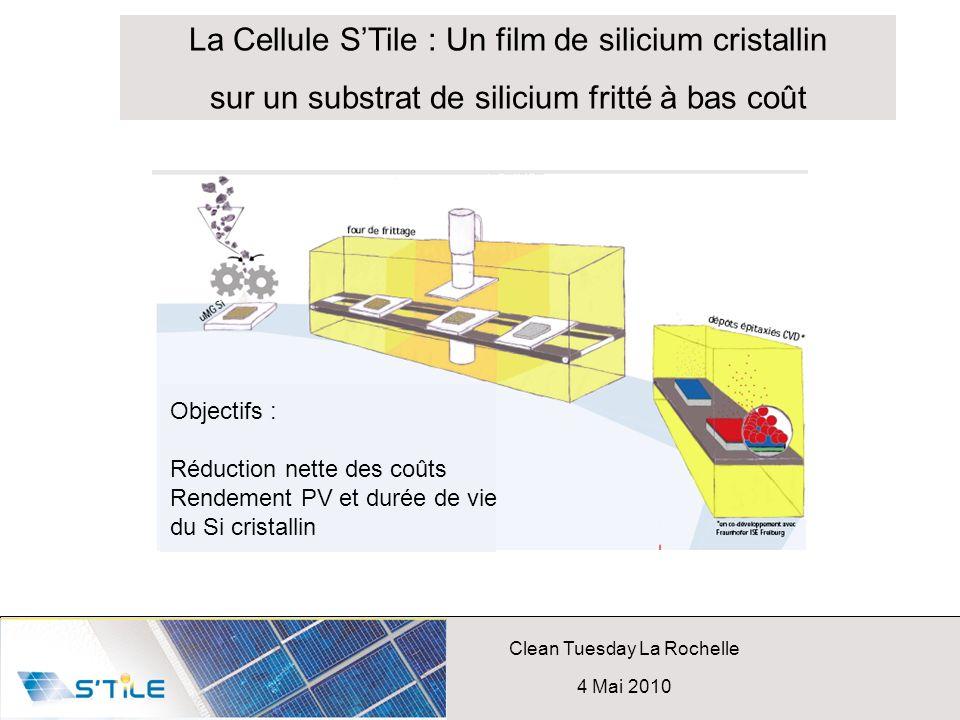 La Cellule S'Tile : Un film de silicium cristallin