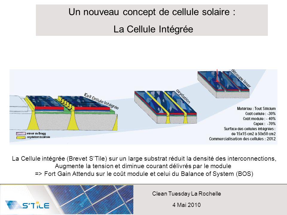 Un nouveau concept de cellule solaire : La Cellule Intégrée