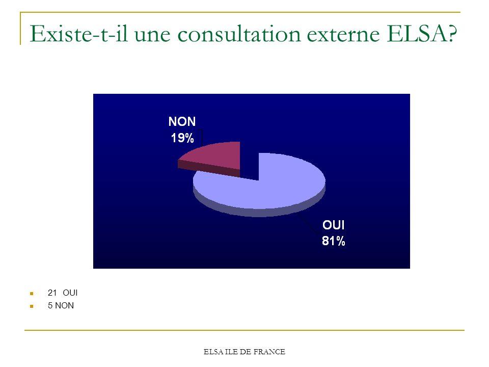 Existe-t-il une consultation externe ELSA