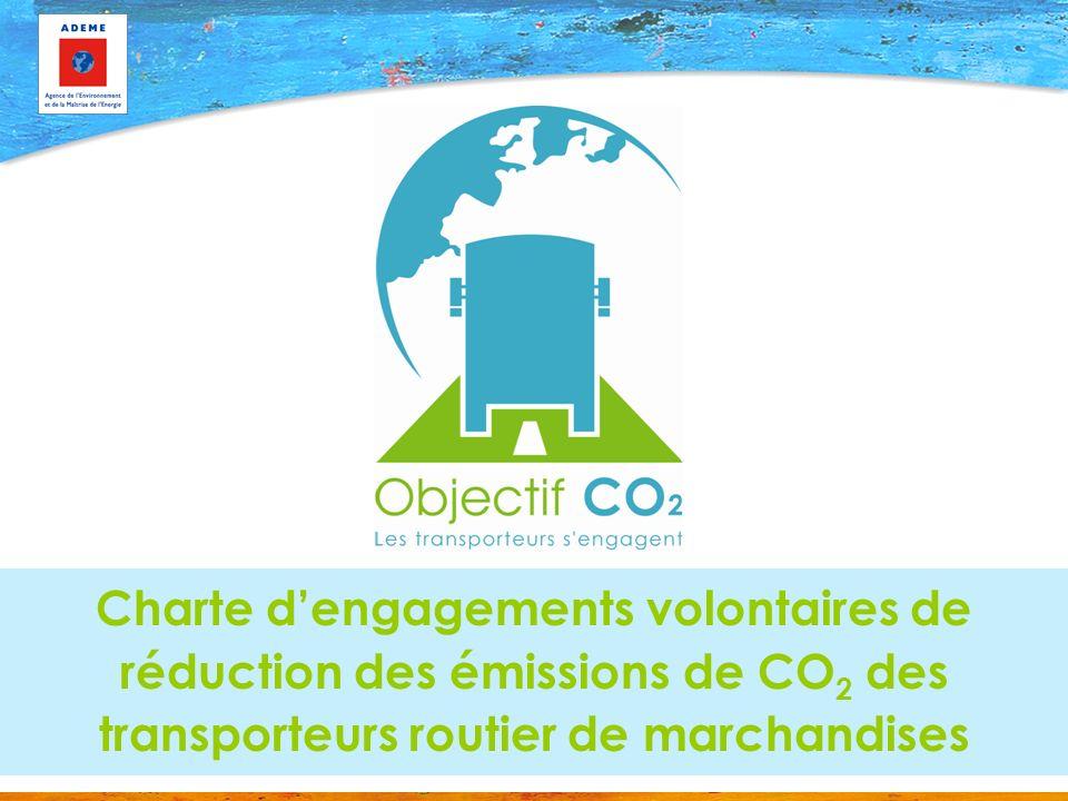 Charte d'engagements volontaires de réduction des émissions de CO2 des transporteurs routier de marchandises