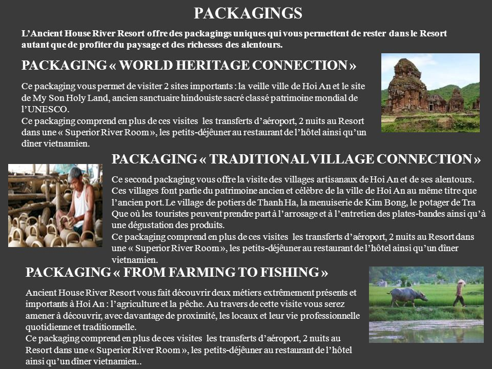 PACKAGINGS PACKAGING « WORLD HERITAGE CONNECTION »