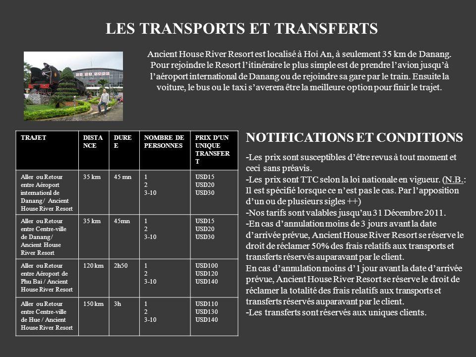 LES TRANSPORTS ET TRANSFERTS