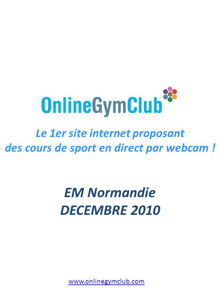 Le 1er site internet proposant des cours de sport en direct par webcam !