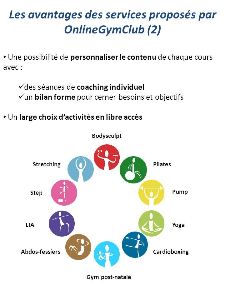 Les avantages des services proposés par OnlineGymClub (2)