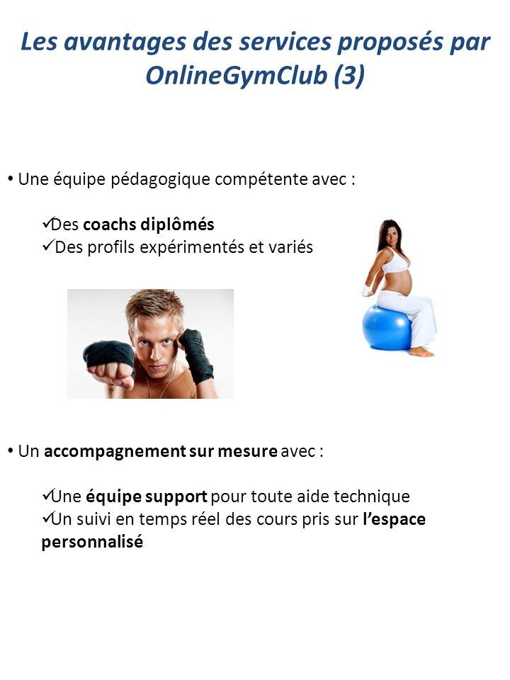 Les avantages des services proposés par OnlineGymClub (3)