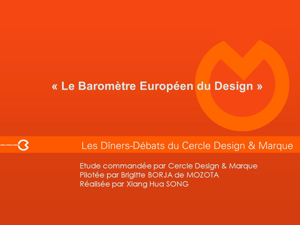 « Le Baromètre Européen du Design »