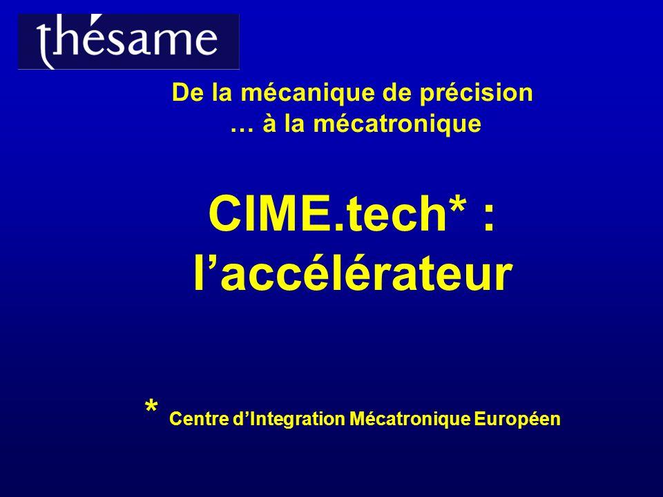 De la mécanique de précision … à la mécatronique CIME. tech