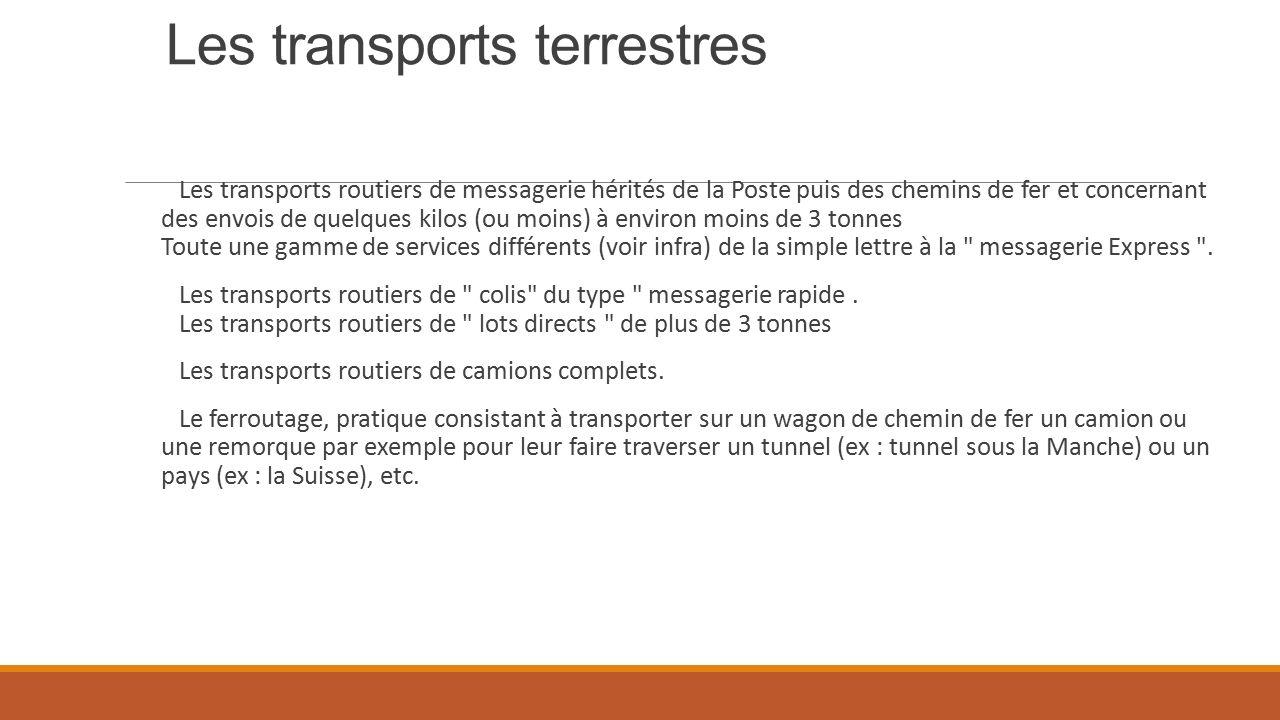 Les transports terrestres
