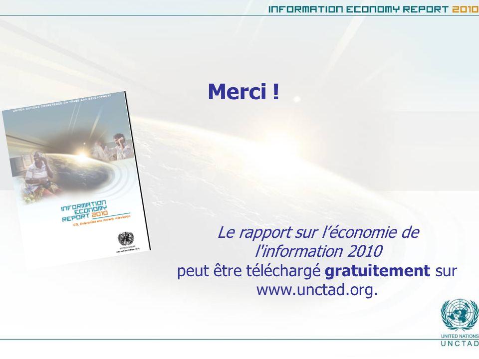 Merci ! Le rapport sur l'économie de l information 2010