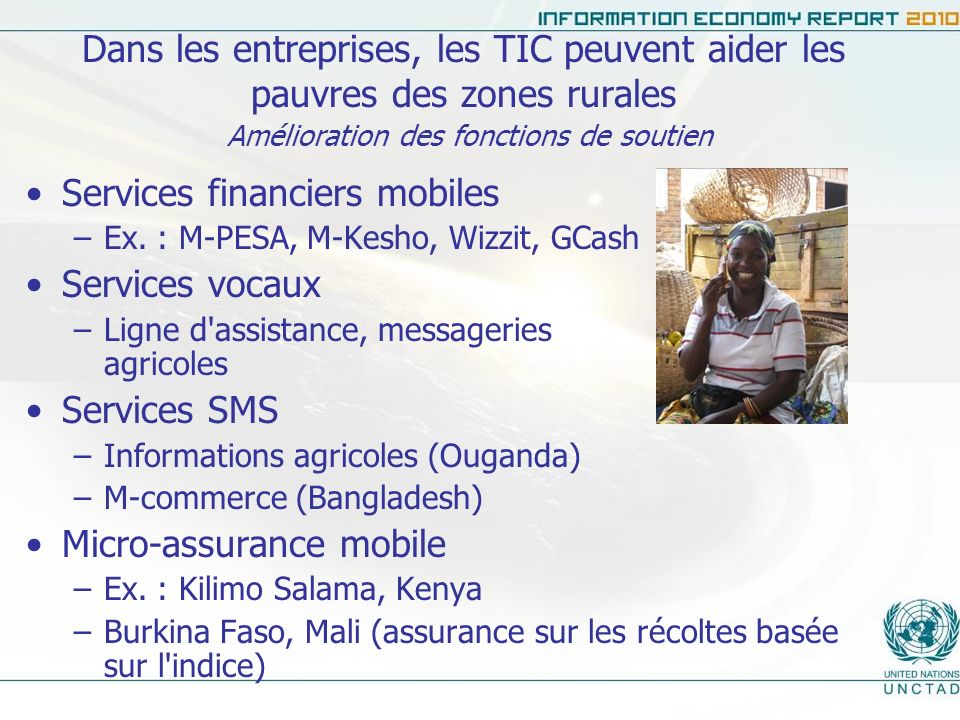 Services financiers mobiles Services vocaux