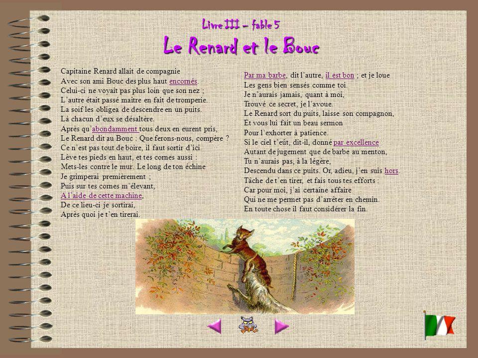 Livre III – fable 5 Le Renard et le Bouc