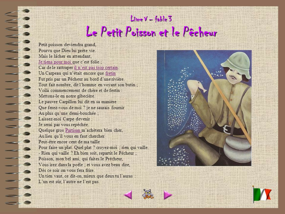 Livre V – fable 3 Le Petit Poisson et le Pêcheur