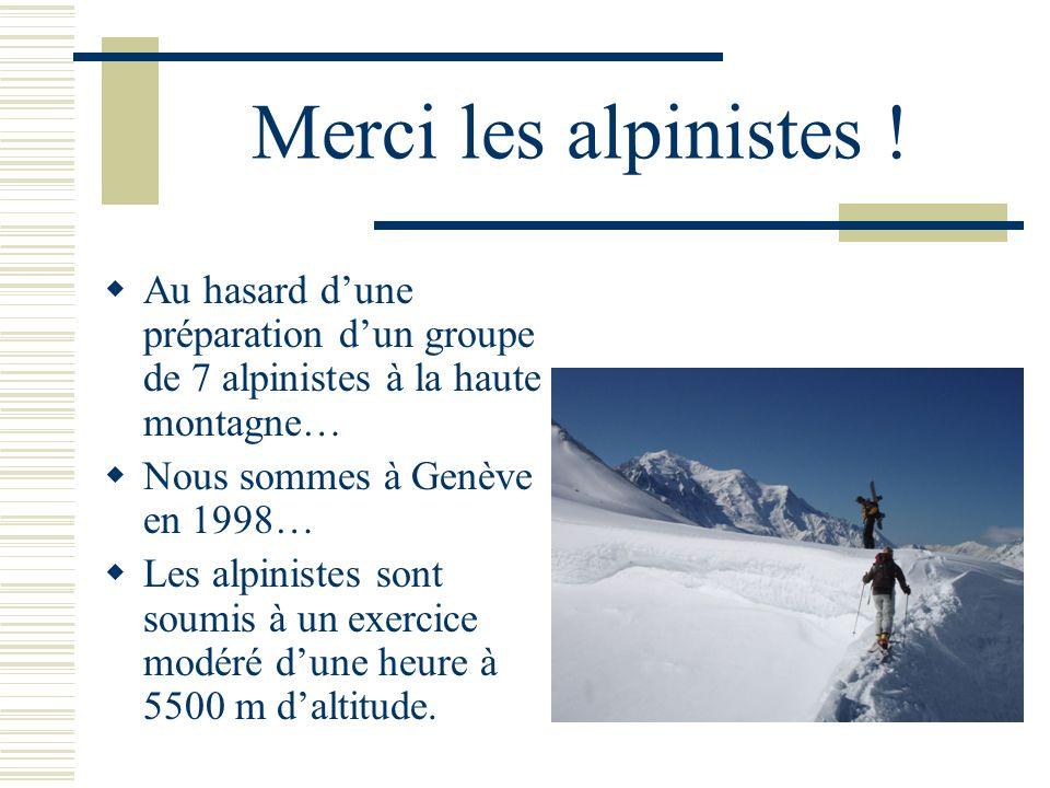 Merci les alpinistes ! Au hasard d'une préparation d'un groupe de 7 alpinistes à la haute montagne…