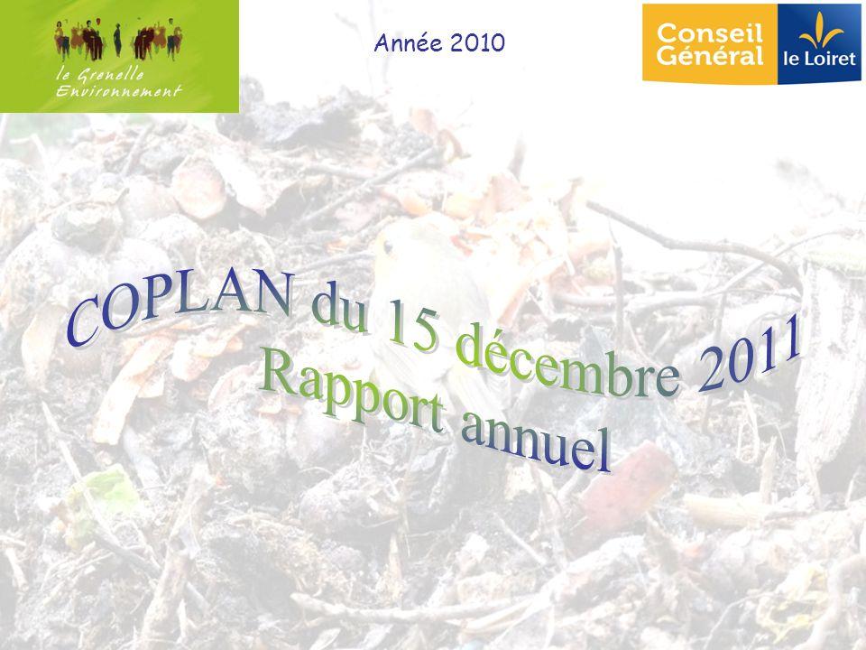 Année 2010 COPLAN du 15 décembre 2011 Rapport annuel