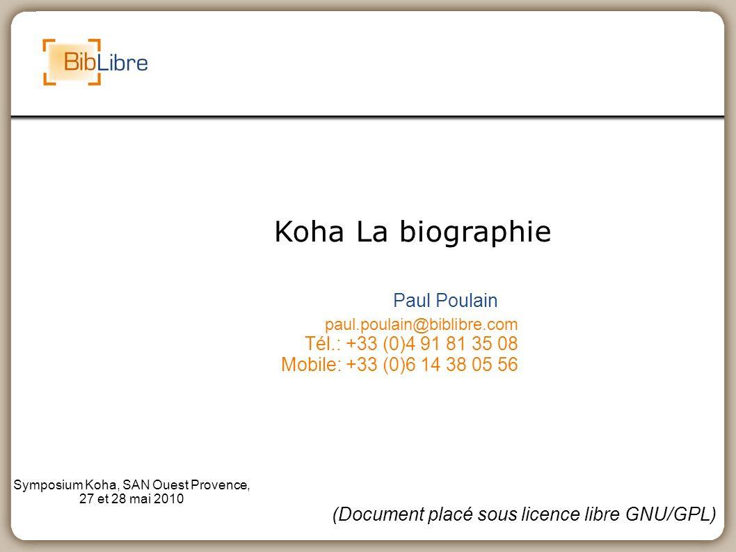 Symposium Koha, SAN Ouest Provence, 27 et 28 mai 2010