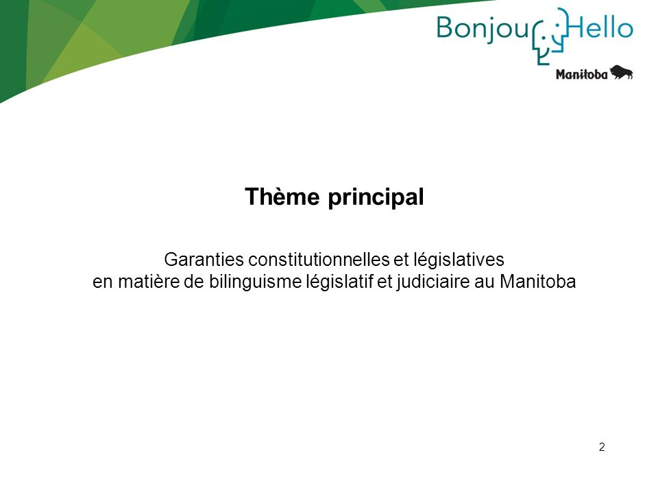 Thème principal Garanties constitutionnelles et législatives