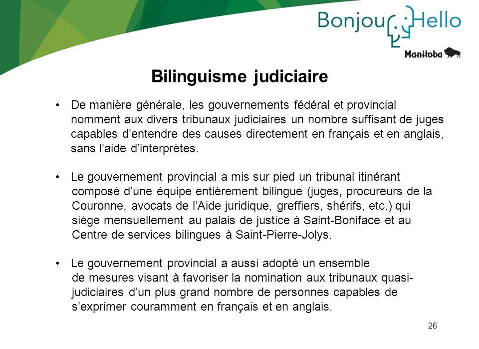 Bilinguisme judiciaire