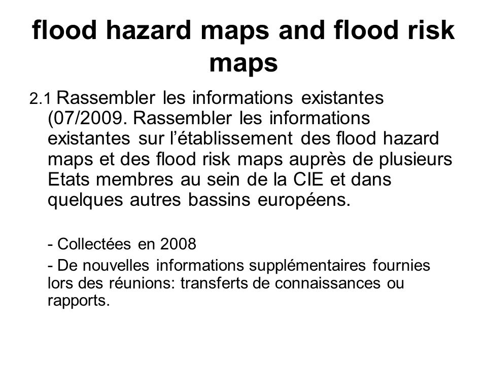 flood hazard maps and flood risk maps