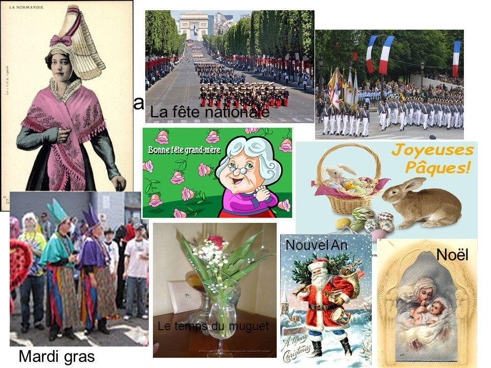 La fête nationale La fête nationale Noël Mardi gras Nouvel An